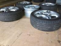 "Mercedes 18"" genuine AMG alloys"