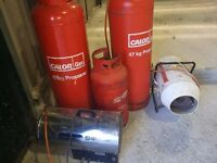 2x Small industrial space heaters