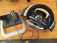 X Box 360 Steering Wheel & Pedals