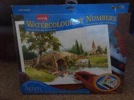 New Reeves The Artist Collection Watercolour by Numbers Riverside art and craft xmas gift