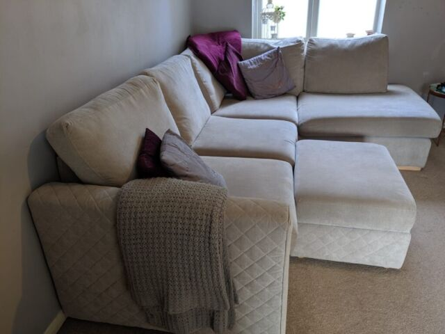 Magnificent Perfect Condition Dfs Marquee Sofa Foot Stool In Silver In Chelmsford Essex Gumtree Machost Co Dining Chair Design Ideas Machostcouk