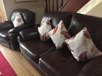 FREE 3 piece brown leather sofa