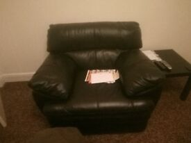 Leather chair, leather recliner