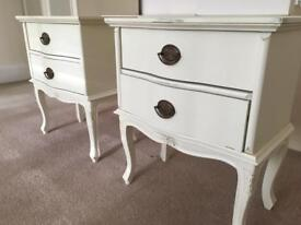French Armoire Laura Ashley Bedside Units Cabinets in Excellent Condition