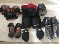 Full, Season ready Ice-Hockey Bauer body armour