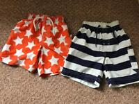 Boys swimming shorts. Two pairs. 18-24 Months