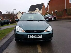 Ford Focus 1.6 03 plate low mileage in very good condition and very reliable