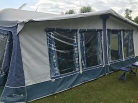 Torino Awning with skirt and curtains - 1080cm