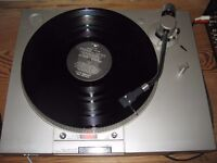 Sony PST-1 direct drive turntable with cartridge stylus, good lid and hinges, leads