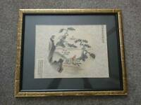 Oriental framed picture