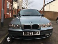2004BMW 3 Series 1.8 316ti SE Compact, Automatic 3dr, 79000 Miles,
