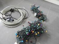 4 Sets of Christmas lights - 2 rope ones and 2 bauble ones