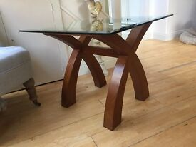 Habitat Solid Wood & Glass Coffee Table EXC Cond