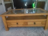 Wooden coffee table can.deliver