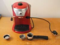Delonghi ECC220-R Coffee Machine + Steamer