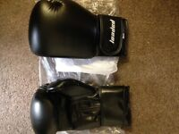 Selection of brand new boxing gloves