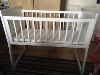 White rocking crib VGC