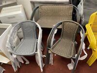 Rattan style garden chair Grey or Brown