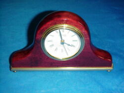 Danbury Clock Company Quartz Wood Mantle Clock German Movement