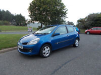 RENAULT CLIO 1.2 DYNAMIQUE HATCHBACK 3 DOOR BLUE 2008 FULL MOT BARGAIN ONLY 1450 *LOOK* PX/DELIVERY