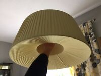 John Lewis ceiling lamp shade in mustard yellow