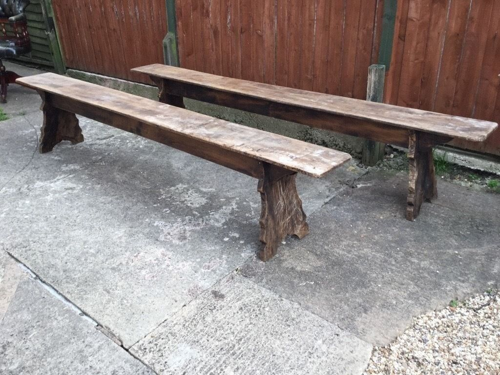 Pair of rustic benches