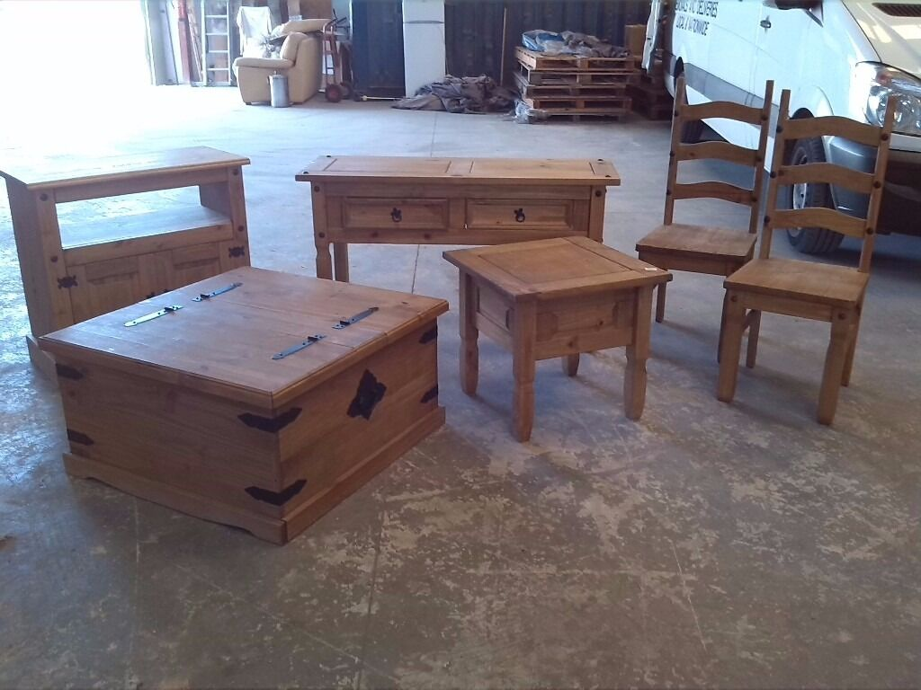 New Reduced Pine Mexican Style Furniture Set Inc Coffee Table Chest Televisioncabinet