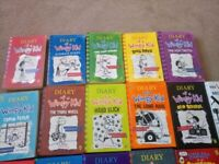 Diary of a wimpy kid books, like new, any questions welcome, collection in person