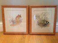 Fox and Badger Pictures/ Wall Art