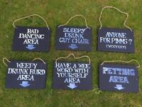 Blackboards - Fun Wedding Areas decoration