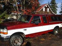 1995 Ford F-150 Red Pickup Truck