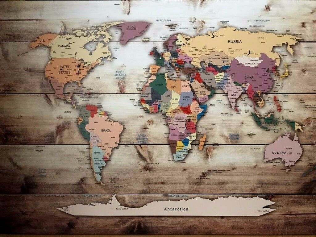 World map canvas pinboard in highgate london gumtree world map canvas pinboard gumiabroncs Gallery