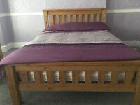 Solid Oak Bed Frame - £180 - Excellent Condition
