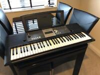 Yamaha YPT-230 Digital Keyboard With Music Stand, 61 keys, Nearly New