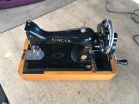 Singer hand sewing machine for sale working
