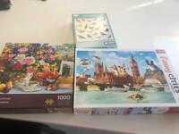 3 x 1000 piece puzzles