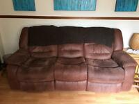3 seat and 2 seat leather couch