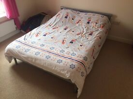Solid Metal Double Bed Frame - MUST SELL!!