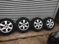 "Volkswagen t5 Transporter and caravelle 16"" alloy wheels and tyres"