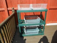 GREENHOUSE /GARDENERS POTTING BENCH WITH BASKETS KETTER