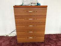 SCHREIBER CHEST OF 5 DRAWERS NOTTINGHAMSHIRE