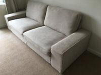 Three-seat sofa (beige)