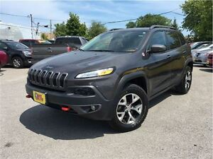 2016 Jeep Cherokee Trailhawk NAVIGATION LEATHER & CLOTH INTERIOR