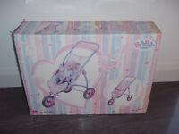 Baby Born 3 Wheel Pushchair / Stroller (Boxed)