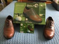 Brown golf shoes size 7.5