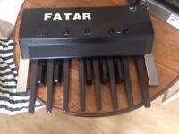 Fatar MP-1 vintage midi controller with a flightcase