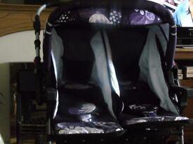 twin pram/pushchair perfect condition used once