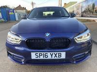 2016 BMW 1 SERIES 1.5 DIESEL 5 DOORS, £20 YEAR TAX ,ULEZ FREE SUPERB CAR,audi a4/audi a3