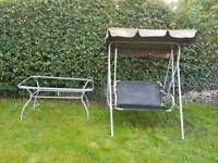 £20 (ONO) Garden Swing + Table