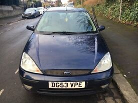 Ford Focus 53 1.6 Petrol Blue Clean Leathers Heated Seats Cheap FSH